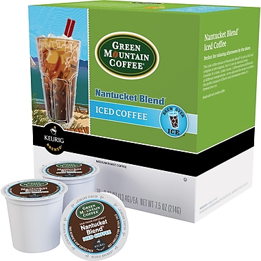 Keurig® K-Cup® Green Mountain® Nantucket Blend Iced Coffee, Regular, 22/Pack