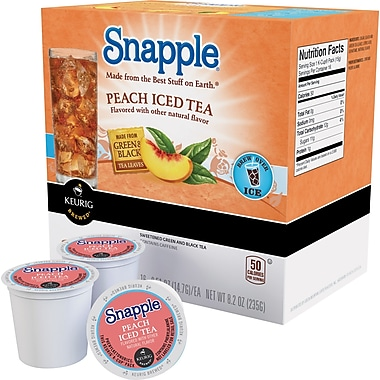 Keurig® K-Cup® Snapple® Iced Tea, Peach, 22/Pack