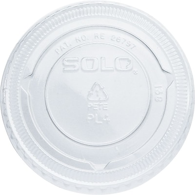 SOLO PET Plastic Souffle Portion Cup Lids, 2,500/Case 1538899