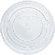 SOLO® PET Plastic Souffle Portion Cup Lids, 2,500/Case