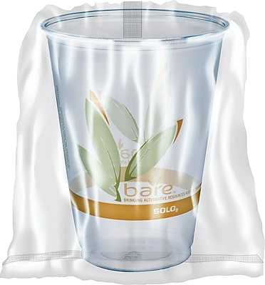 SOLO Bare Eco-Forward, Wrapped 10 oz, PET Clear Cups 1539770