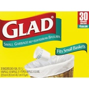 Glad® Small Trash Bags, 4 Gallon, 30 Count