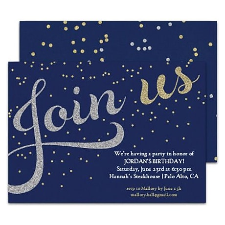 Party Invitations Party Invitation Templates Staples - Party invitation template: graduation party invitation postcard templates free