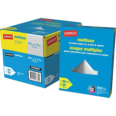 Staples® Multiuse Paper, 20 lb., 8-1/2