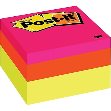 Post-it® Notes Cube, Canary Wave, 2