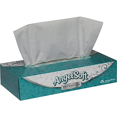 Angel Soft ps Facial Tissues, Flat Boxes, 2-Ply, 30/Case