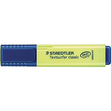 Staedtler Text Surfer Classic Flat Highlighters, Yellow, 2/Pack