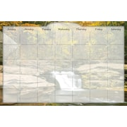 Biggies- Dry Erase Stickie Monthly Calendar, River Falls, 36""