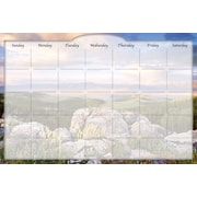 Biggies- Dry Erase Stickie Monthly Calendar, Sunrise Valley, 36""