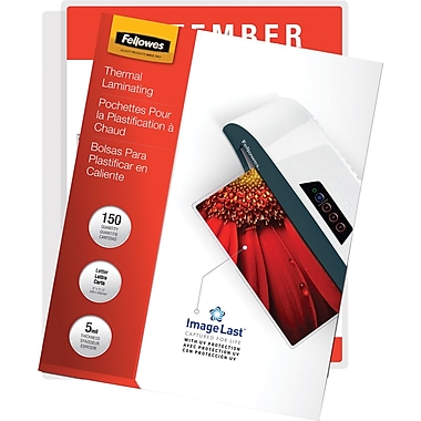 Fellowes Laminating Pouches, ImageLast - Letter Size, 5 mil, 100 pack