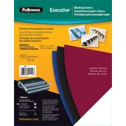 Fellowes Executive Binding Presentation Covers, Oversize,  50 Pack, Black