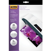 Fellowes Laminating Pouches - Photo Size, 3 mil, 25 pack