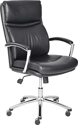 Lane Madison Leather Managers Office Chair Fixed Arms Black 45468