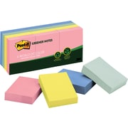 """Post-it® 1-1/2"""" x 2"""" Recycled Sunwashed Pier Notes, 12 Pads/Pack"""