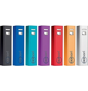 Acesori Powerstick 2600mAh Portable Power Bank, Assorted Colors