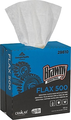 Brawny Industrial White FLAX 500 Light Duty Cloths