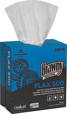Brawny Industrial White FLAX 500 Light Duty Cloths 1,320 ct