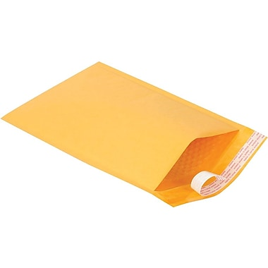 Staples® #3 Bubble Mailer, Gold Kraft, 8-3/8