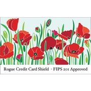 Rogue WalletGuard® RFID-Blocking  WalletGuard Credit Card Sleeve 8 pack/2 Passport Package, Poppy