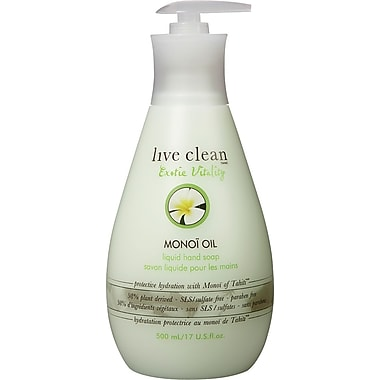 Live Clean - Savon liquide pour les mains, huile de Monoi, 500 ml