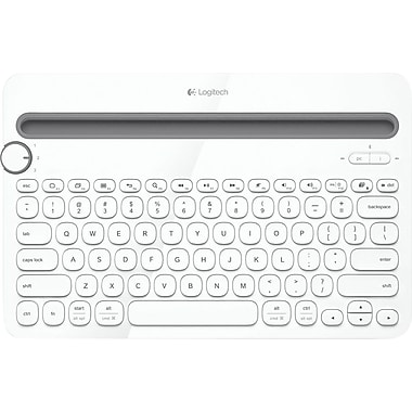 Logitech K480 Bluetooth Multi-Device Keyboard, White