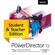 CyberLink PowerDirector 13 Ultimate Suite - Student & Teacher Edition for Windows (1 User) [Download]