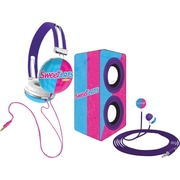 Candeez 3-in-1 Stereo Combo Pack (Headphones, Ear-Buds and Speaker) - SweetTarts