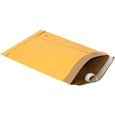 Staples Padded Self-Seal Kraft Mailers, Side Seam, #3, 8 1/2in. x 14 1/2in., 100/Ct