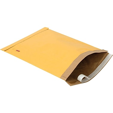 Staples #5 Padded Mailer, Gold Kraft, 10-3/8