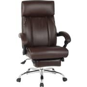 Brown Bonded Leather Recliner Chair.