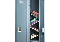 Designed By Students Floating Locker Shelves Grey/Neon Green
