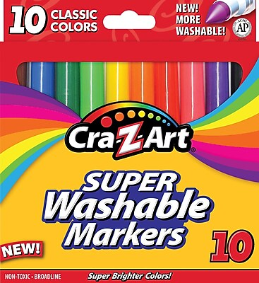 Cra Z Art Classic Super Washable Broadline Markers 10 Pack