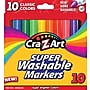 Cra-Z-Art Classic Super Washable Broadline Markers, 10/Pack