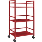 Staples Easy 2 Go 7753196 Metal Cart, Red