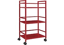 Staples E2G Metal Cart, Red