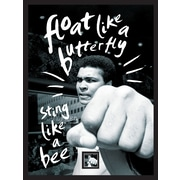 """Muhammad Ali """"Float Like a Butterfly"""" Framed Wall Art with Postage Stamp"""