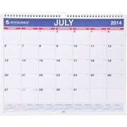 2015-2016 AT-A-GLANCE® Academic Monthly Wall Calendar, July-June, Blue/White, 15 x 12