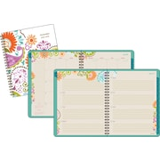 2015-2016 AT-A-GLANCE® Garden Party Academic Weekly/Monthly Planner, July-June, Design, 8-1/2 x 11