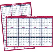 AT-A-GLANCE® 2015-2016 Academic Large Vertical/Horizontal Erasable Wall Planner, July-June, Red, 32 x 48