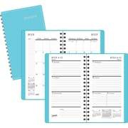 2015-2016 Staples® Pocket Academic Weekly/Monthly Planner, July-August, Sky Blue, 3 1/2 x 6 3/8
