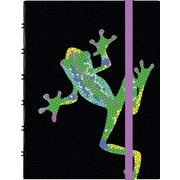 Letts 2015 - 2016 Weekly Academic Planner, July - August, 6-1/2 x 4-3/4, Frog Design with Hard Cover