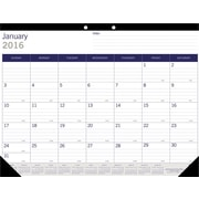 Blueline 2015 - 2016 Monthly Academic Desk Pad Calendar, July - July, 22 x 17, Sugarcane Based Paper