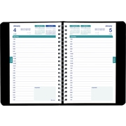 Brownline 2015 - 2016 Daily Academic Planner, August - July, 8 x 5, Black Soft Cover