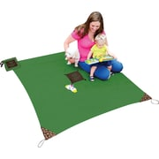 Shark Tank® Monkey Mat: Your Portable Floor, Green, 5' x 5' portable nylon mat in attached ultra-compact pouch