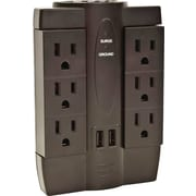 6 Outlet Swivel Surge Protector with 2 USB Ports - 2 Pack