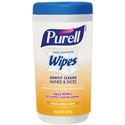 Purell® Hand Sanitizing Wipes, Fresh Citrus Scent, 40 Count Canister