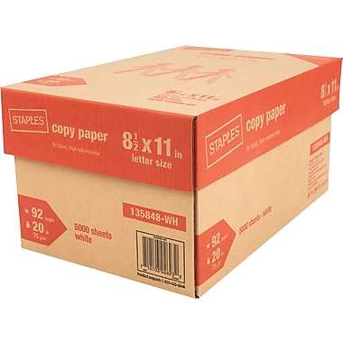 Staples Copy Paper 8 1/2in. x 11in., Case