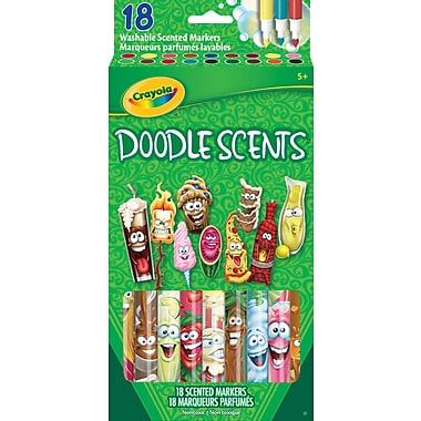 Crayola Doodle Scents Markers, 18/Pack
