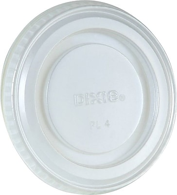 Dixie Lid - fits 3.25 oz. and 4 oz. Plastic Souffle Cups, 2,400 count 1583656