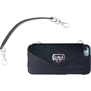 Shark Tank® Pursecase Phone Protector For Iphone 5/5S/5C, Leather, Black With Silver